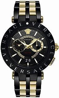 Versace Homme Analogique Quartz Montre avec Bracelet en Acier Inoxydable VEBV00619