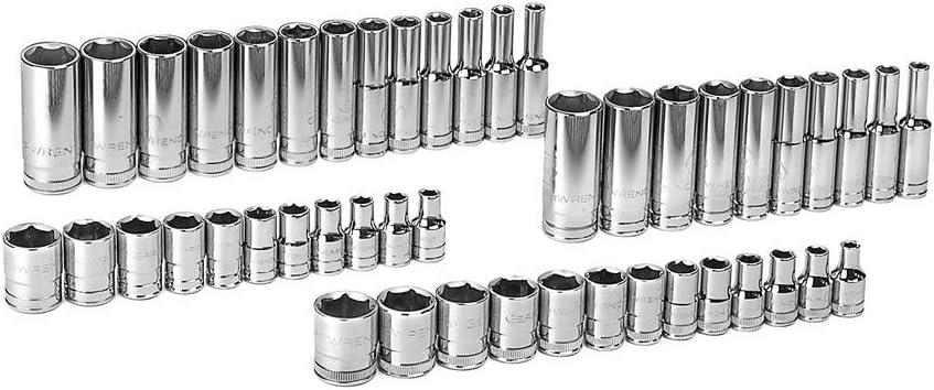 "Draper 16355 1//4/"" Drive 47 Piece Metric Standard Deep Socket Set 4-14mm"
