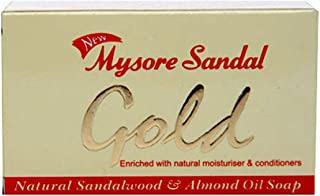 Mysore Sandal Essential Oil Gold Soap with Natural Moisturizer and Conditioners, 125g - Pack of 6