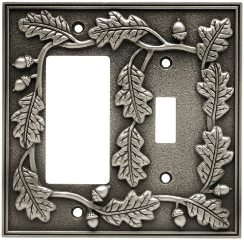 Fairhope Wall Plates in Brushed Pewter Alternative