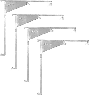 Valance Clips Clear Vertical Blind Installation Bracket with Built in Valance Clip, Outside Mount - 4 Pieces