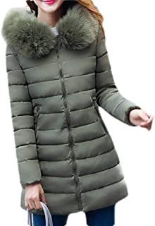 Macondoo Women's Thicken Puffer Faux Fur Hood Down Parka Jackets Coat