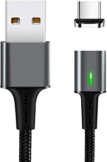 TEGAL Magnetic Charging Cable, USB C Cable Fast Charging and Data Sync Smart Phone Charger, 3.3 feet Nylon Braided Cord wi...