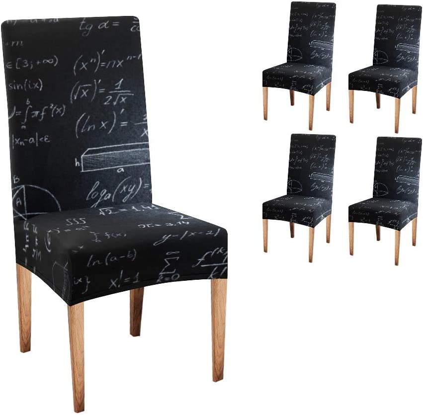 CUXWEOT Chair Safety and trust Covers for Dining White Seat Black Room Today's only