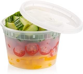ZEML 16 oz. Deli Food Storage Containers With Leak-proof Lids - 24 Sets