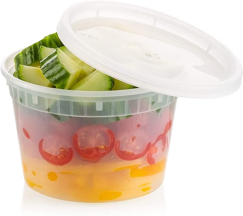 ZEML 16 Oz Deli Food Storage Containers With Leak Proof Lids 24 Sets