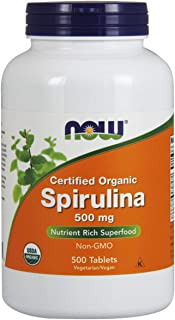 Now Foods Organic Spirulina Tablets, 500