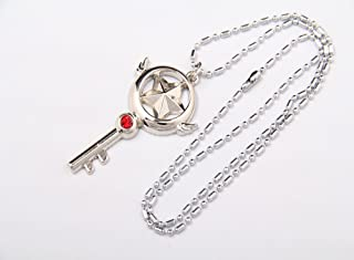 Cardcaptor Sakura Captor Sakura Cosplay Kinomoto Star Wand Key Necklace Pendant