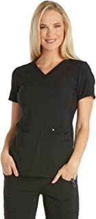 iflex Women's V-Neck Knit Panel Scrub Top
