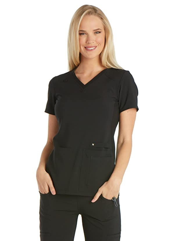 Cherokee iflex Women's V-Neck Knit Panel Scrub Top