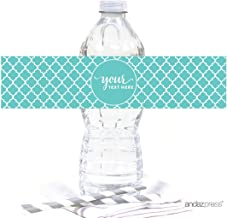 Andaz Press Fully Personalized Collection, Water Bottle Label, 20-Pack, Custom Text or Logo