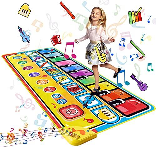 LEADSTAR Alfombra Piano para Niños,Juguetes Bebes 1 2 3 4 5 Año,Alfombra Musical Teclado Alfombra de Baile con 8 Instrumentos, Educativo Juguete Regalo para Bebé Niño Niña (148x60cm)