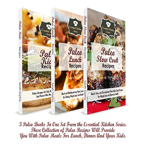 Paleo Book Collection: 3 Paleo Books in One Set from the Essential Kitchen Series audiobook cover art