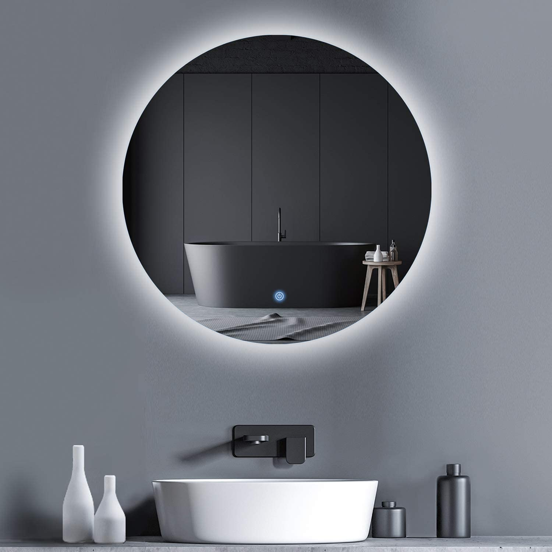 MIRPLUS Round LED Max 69% OFF Bathroom Mirror Circle 24 Backlit 2021 inch