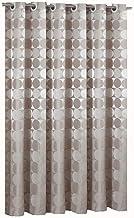 Goodbath Ringless Extra Long Shower Curtain 84 Inch, Hotel Style Round Circle Pattern Heavy Weight Waterproof Fabric Bathr...