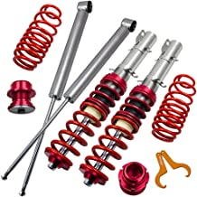 Lowering Coilovers Kits for VW Golf MK4, Jetta MK4, Audi A3 MK1, New Beetle 1997-2010, SKODA Octavia 1997-2004, Lavida 2008-present - Red