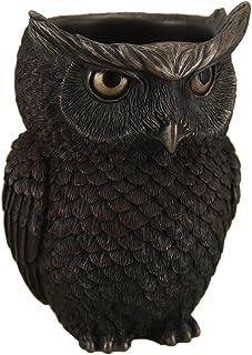 JFSM INC Horned Owl Pen Holder Statue Figurine