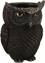 Horned Owl Pen Holder Statue Figurine