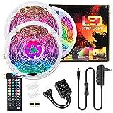 Led Strip 39.37ft ,12m RGB LED Stripes Sync mit Musik, TV Farbwechsel LED Lichtband mit 40 Tasten Fernbedienung ,SMD 5050 RGB LED Streifen 12V, für Schlafzimmer, Decke, Party, Beleuchtung ,Dekorative