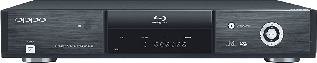 OPPO BDP-83 Blu-ray Disc Player with SACD, DVD-Audio, and VRS Technology