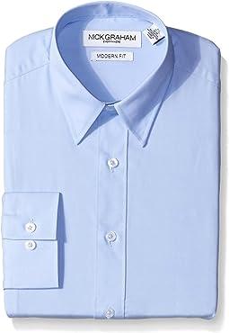Nick Graham Men's Light Blue Solid Dress Shirt