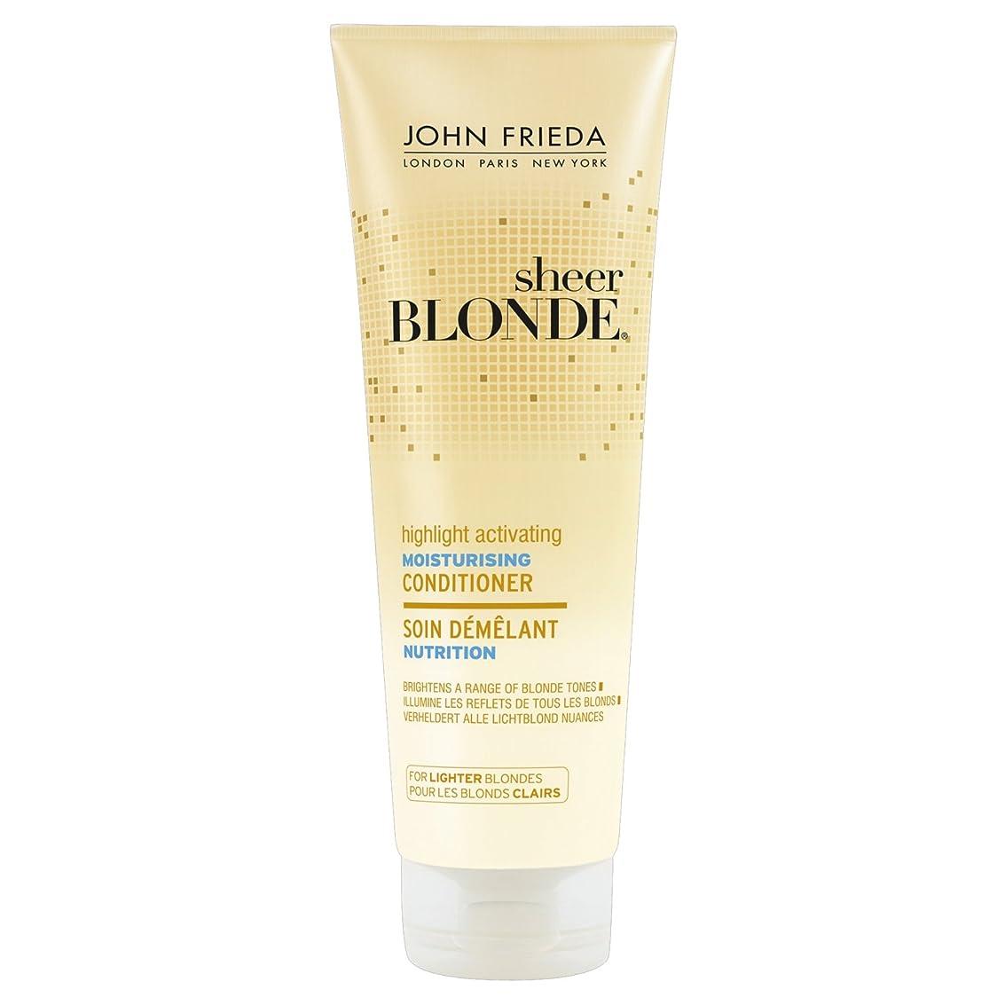 スクラッチどんよりしたやむを得ないJohn Frieda Sheer Blonde Highlight Activating Moisturising Conditioner for Lighter Blondes 250ml