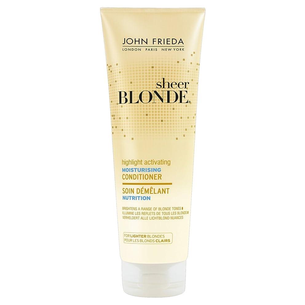 要求ワイン効果的John Frieda Sheer Blonde Highlight Activating Moisturising Conditioner for Lighter Blondes 250ml