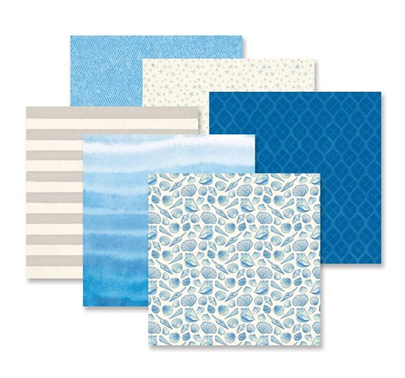 Deep Blue Sea Designer Scrapbook Coastal Paper Pack (12/pk) by Creative Memories