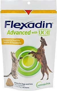 Vetoquinol Flexadin Advanced with UC-II for Dogs & Cats, 30 Chews