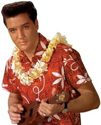 Elvis Presley Blue Hawaii Rojo Hawaiano Camisa Campamento de David Carey