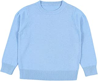 Baby Boys Girls O-Neck Toddler Pullover Sweaters Knitted Coats Outwear Sweatshirt 1-6 Years