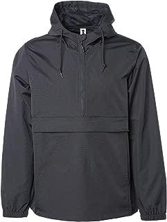Global Blank Men's Hooded Raincoat Waterproof Jacket Zip Up Windbreaker Anorak