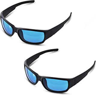 iPower 2-Pack Indoor Hydroponics HPS & MH Grow Room Light Glasses Goggles Anti UV Reflection Visual Optical Protection, Blue