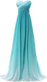 KAY&LAYLA 2016 Ombre Chiffon Bridesmaid Gowns Long Prom Evening Dresses LFD047