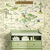 RoomMates Disney Winnie The Pooh 100 Aker Wood Map Giant Wall Sticker