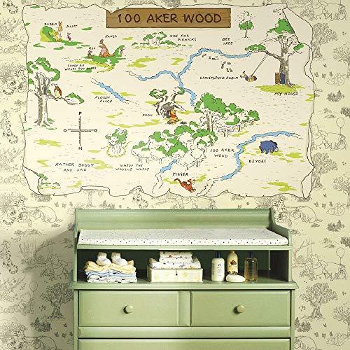 Décor Géant Repositionnable Adhésif Disney Winnie l'ourson - 100 Aker Wood