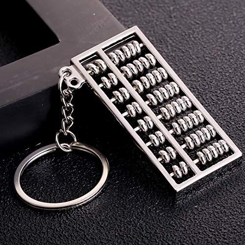 JINGRU Fashion Mini Alloy 6/8 Row Abacus KeychainMentalCreative Gift for Boy Girl Friend Square Key Holder Keychain