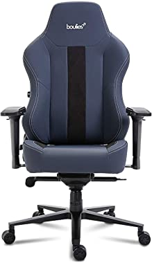 boulies Master Office Chair Gaming Chair Racing Style Ergonomic High Back Computer Desk Chair with Built-in Lumbar Support - Black & Blue