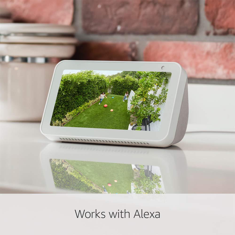 works with Alexa With 30-day free trial of Ring Protect Plan Black HD security camera with Two-Way Talk Ring Stick Up Cam Solar
