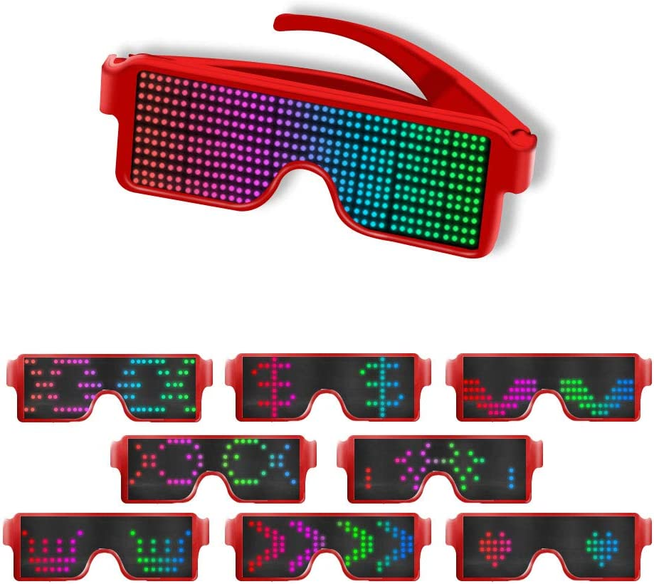Party Rave Parties Raves AINSKO Fancy LED Light Glasses Dynamic ...