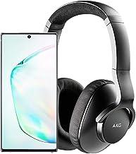 Samsung Galaxy Note 10+ Plus Factory Unlocked Cell Phone with 256GB (U.S. Warranty), Aura Glow (Silver) Note10+ w/AKG N700NC M2 Headphones