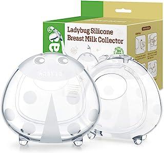Haakaa Ladybug Breast Milk Collector Wearable Breast Shells Nursing Cups Breastmilk Saver for Large Milk Supply, Reusable,...