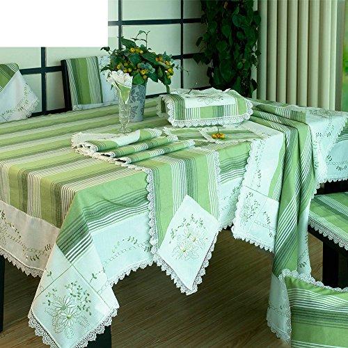 DXG&FX Mittelmeer Östlichen Stil Tisch Tuch Stoff Garten Handtuch Frische Tischdecke Streifen Tuch abdeckt 40x60cm(15.7x23.6inch) A