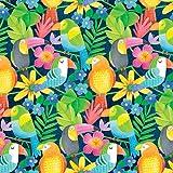 Blanko Textiles tropische Regenwald-Stoffe, 0,5 m, 100%