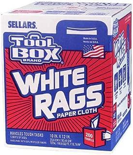SELLARS WIPERS & SORBENTS 5820201 200CT Painters Rags