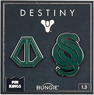 Pin Kings Official Destiny Collectible Metal Enamel Pin Badges - Enamel Pins on a Backing Card - Official Merchandise