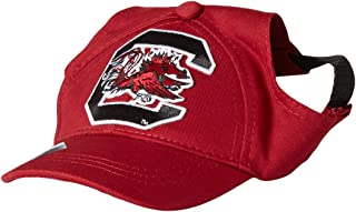 Littlearth NCAA unisex NCAA Pet Baseball Hat - Holes for Ears and Adjustable Neck Strap perfect for Dogs and Cats