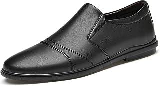 Zapatos casuales Zapatos casuales para hombres, tapa de cuero de puntera transpirable, costuras elásticas suaves y zapatos...