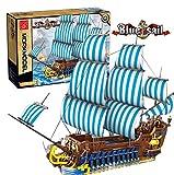 FADY Technik Schiff Modell, Piratenschiff Bausteine, Bausteine Kreuzfahrtschiff Kompatibel mit Lego - 3265 Teile