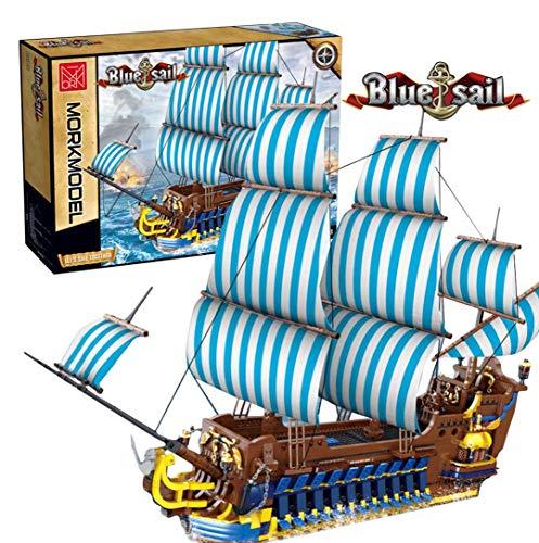 KEAYO Technik Piratenschiff Modell, Länge 93cm Groß Piratenschiff Segelschiff Bauset 3265 Teile Kompatibel mit Lego Piratenschiff